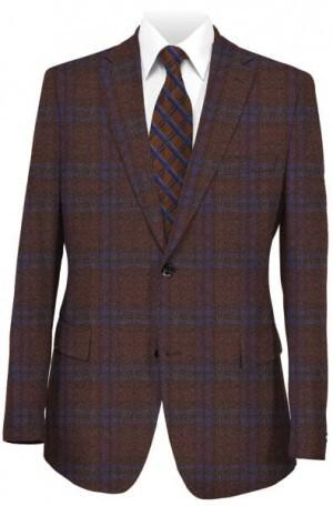 Betenly Burgundy Pattern Tailored Fit Sportcoat #2JS72002