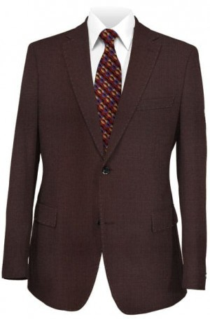 Betenly Burgundy Solid Color Tailored Fit Sportcoat #2JS72014