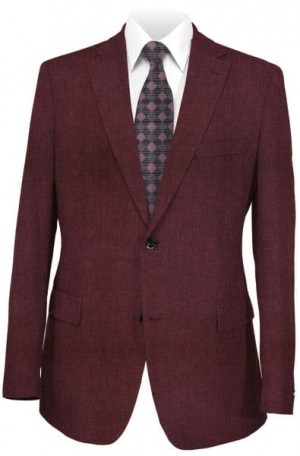 Paul Betenly Burgundy Linen Sportcoat #2JU71059