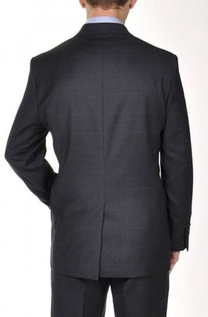 Ralph Lauren Navy Blue Plaid Suit Separates #2MX0078