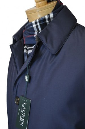 Ralph Lauren Navy Insulated Car Coat #2RC0011