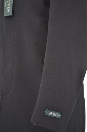 Ralph Lauren Black 3/4-Length Coat #2WT0130JAKE
