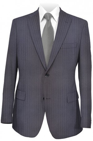 Tiglio Navy Tonal Stripe Tailored Fit Vested Suit 300-B