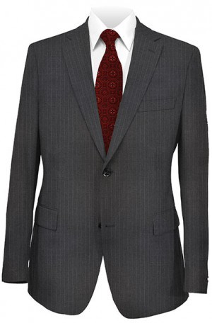 joseph Abboud Charcoal Pinstripe Suit with Pleated Slacks #302989