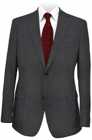 joseph Abboud Charcoal Pinstripe Suit with Pleated Slacks 302989
