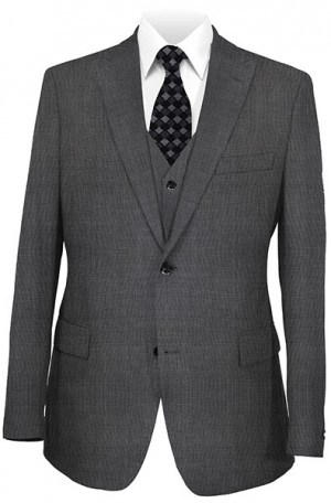 Tiglio Dark Gray Birdseye Tailored Fit Vested Suit 3040-2
