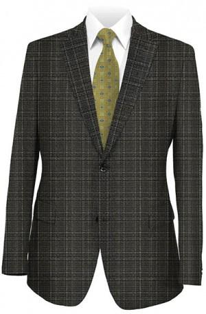 Baroni Black Pattern Silk-Wool Sportcoat #3044-1