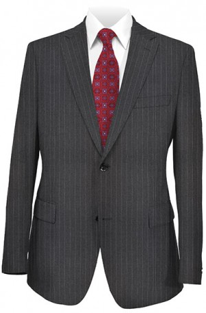 Hickey Freeman Gray Pinstripe Suit #304710B