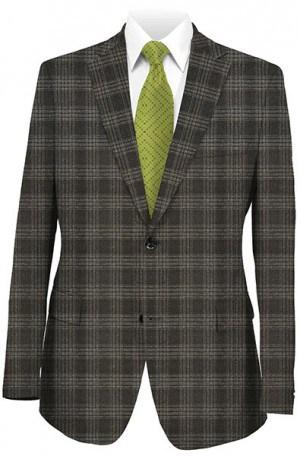 Baroni Black & Gray Plaid Sportcoat #3048-1