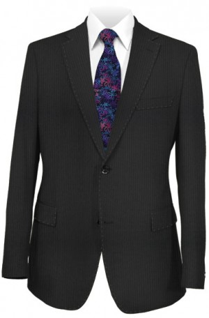 Betenly Black Tonal Stripe Slim Fit Suit 31013