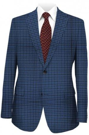Rubin Navy & Blue Check Gentleman's Fit Sportcoat 31186