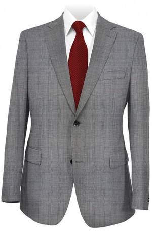 Petrocelli Gray Plaid 'Executive-Portly' Cut Suit #31312