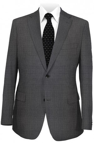 Petrocelli Gray Micro-Check 'Executive-Portly' Fit Suit 31509-CV.