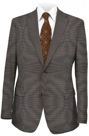 Petrocelli Medium Brown 'Executive-Portly' Fit Suit 31511-CV