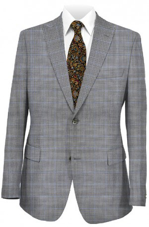 Rubin Black & White Check Tailored Fit Suit 32199