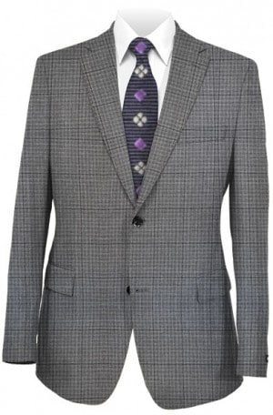 Rubin Gray Pattern Gentleman's Fit Sportcoat #32814