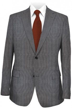 Petrocelli Black & White Check Gentleman's Fit Sportcoat #33003A