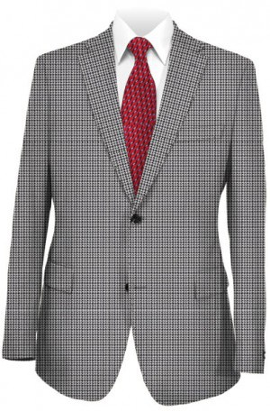 Tiglio Gray & White Houndstooth Tailored Fit Sportcoat #330604-2