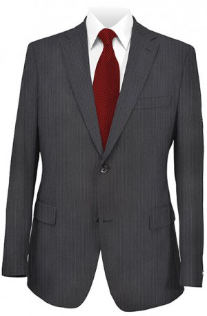 Jack Victor Black Tonal Stripe Suit #331802
