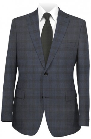 Jack Victor Navy Pattern Suit #332157