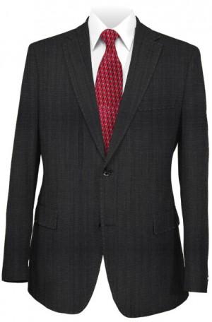 Pal Zileri Dark Gray Tone-on-Tone Tailored Fit Suit 33535-31