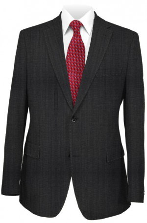 Pal Zileri Dark Gray Tone-on-Tone Tailored Fit Suit #33535-31
