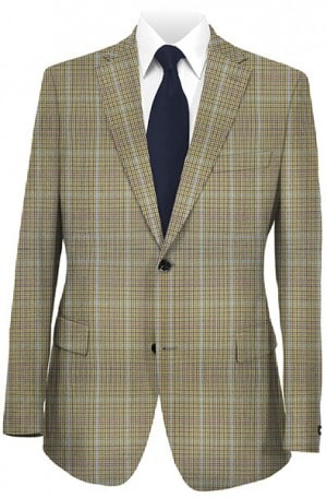 Hart Schaffner Marx Tan Plaid Sportcoat #339-316915