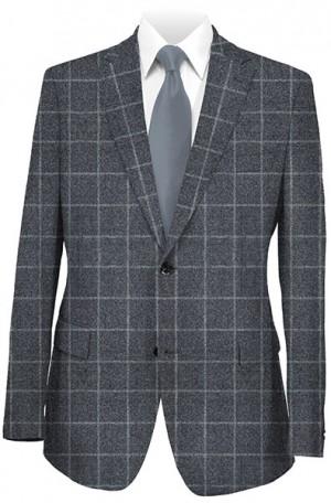 Hart Schaffner Marx Blue Windowpane Gentleman's Fit Sportcoat 339-429305.