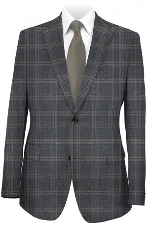 Hart Schaffner Marx Charcoal Plaid Gentleman's Fit Sportcoat #339-429335