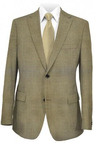 Hart Schaffner Marx Brown & Tan Houndstooth Gentleman's Fit Sportcoat #339-756318