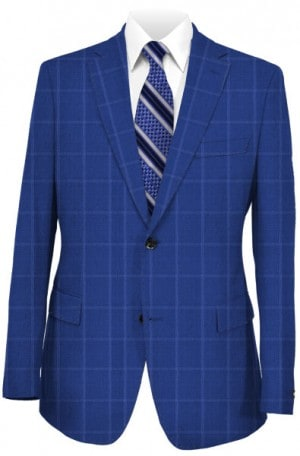 Rubin Royal Blue Windowpane Sportcoat #34066