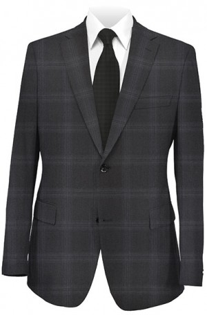 Jack Victor Black Windowpane Suit 341413