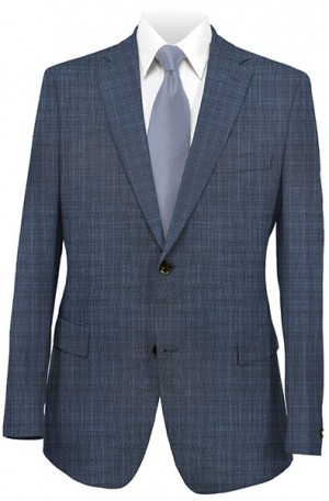 Jack Victor Blue Pattern Suit 341421