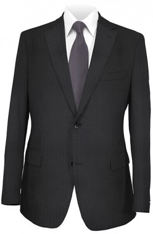 Petrocelli Black Stripe 'Executive-Portly' Cut Suit 34340