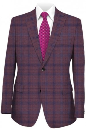 Rubin Soft Cranberry Pattern Tailored Fit Sportcoat 34416