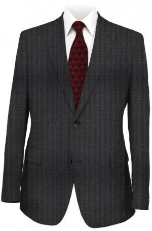 Varvatos Gray Pinstripe Peak Lapel Slim Fit Suit #3456D