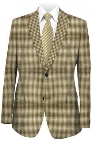 Hart Schaffner Marx Brown & Tan Lambswool Houndstooth Gentleman's Fit Sportcoat #348-519327