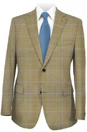 Hart Schaffner Marx Dark Tan Check Gentleman's Fit Sportcoat #348-519506