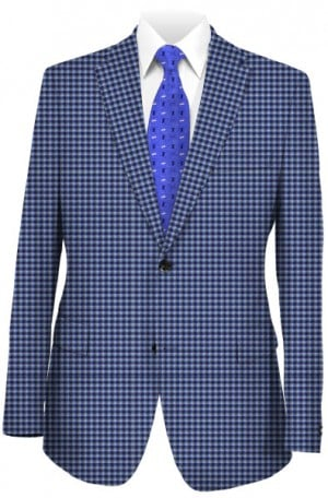 Rubin Blue Check Tailored Fit Sportcoat #34917