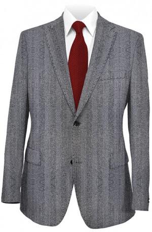 Petrocelli Gray Herringbone Gentleman's Fit Sportcoat #35003