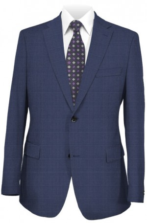 Jack Victor Navy Subtle Windowpane Suit 352812