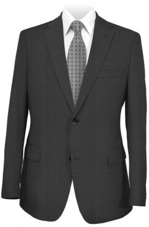 Jack Victor Black Micro-Check Suit #361116