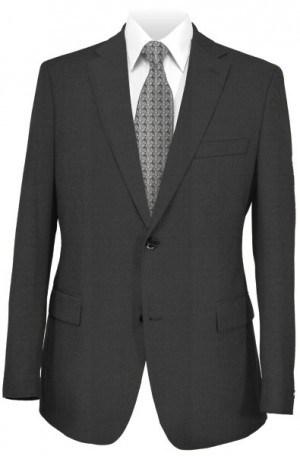 Jack Victor Black Micro-Check Suit #361116