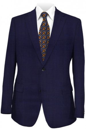 Jack Victor Navy Pattern Suit #361119