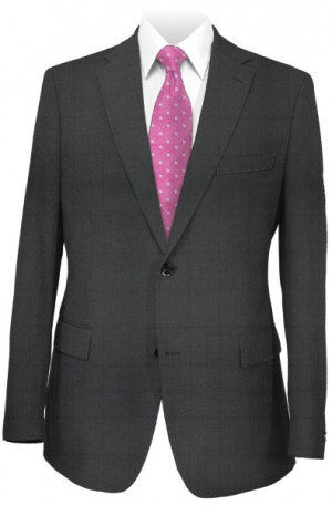 Jack Victor Black Subtle Windowpane Suit #361136