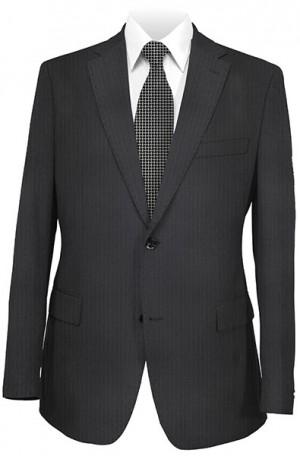 Petrocelli Black Stripe 'Executive-Portly' Cut Suit #36320