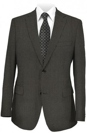 Jack Victor Black Stripe Suit with Pleated Slacks 372326