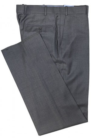 Betenly Dark Grey Solid Color Slacks 3F0003
