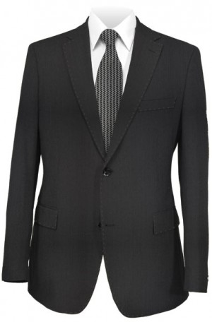 Rubin Black Stripe Tailored Fit Suit 40610