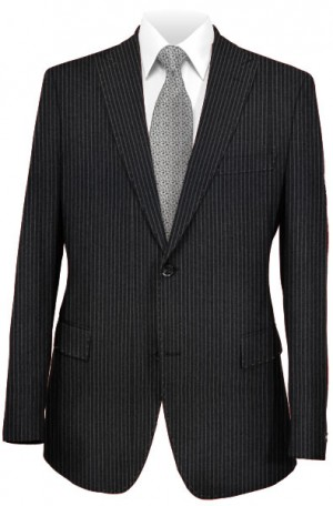 Rubin Charcoal Stripe Tailored Fit Suit #40629